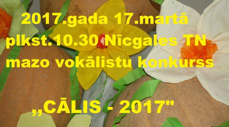 """Mazo vokālistu konkurss   """"Cālis -2017″"""