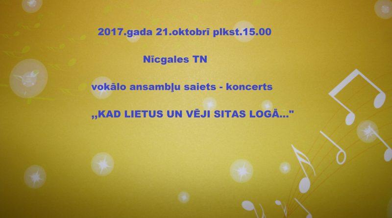 Vokālo ansambļu koncerts