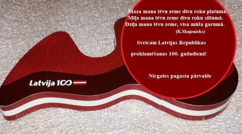 Sveicam Latvijas Valsts 100.gadadienā!