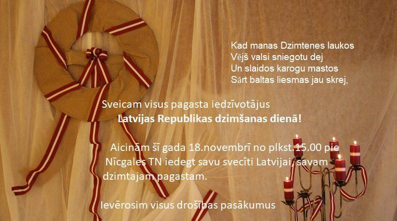 Latvijas Republikas dzimšanas diena!