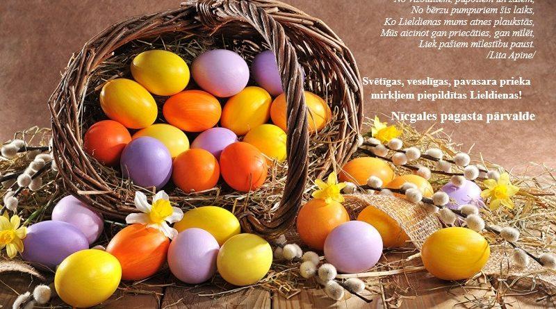 Svētīgas, veselīgas, pavasara prieka mirkļiem piepildītas Lieldienas!