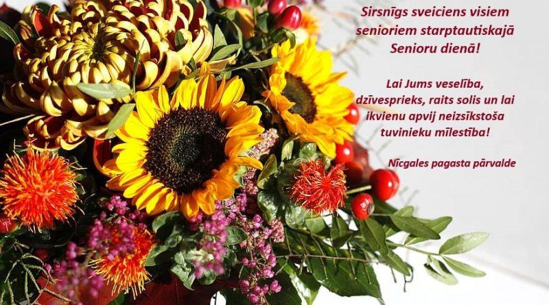 Sirsnīgs sveiciens visiem senioriem Starptautiskajā senioru diena!